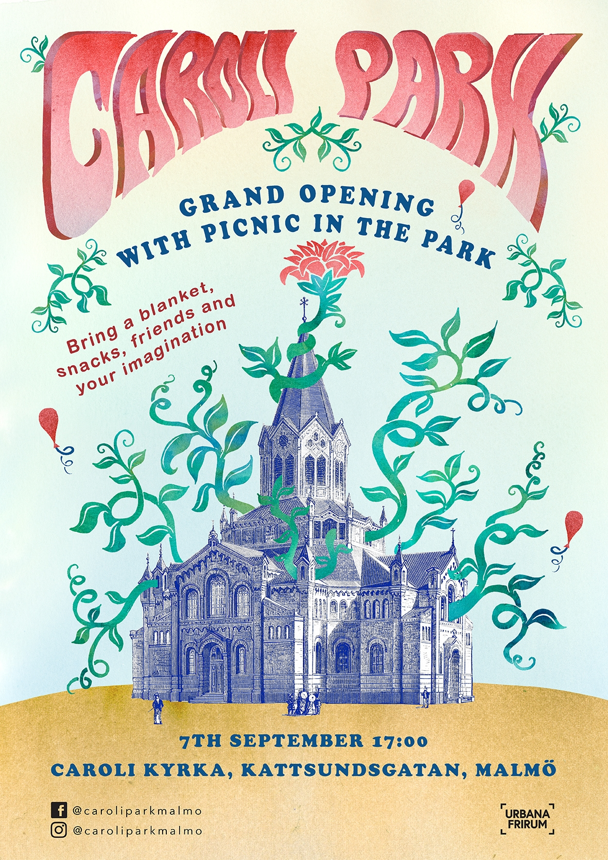 Event poster, Grand opening, Caroli Park, 2018